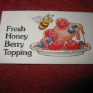 1983 Strawberry Shortcake Housewarming Surprise Board Game Piece: Recipe Card #16
