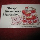1983 Strawberry Shortcake Housewarming Surprise Board Game Piece: Recipe Card #20