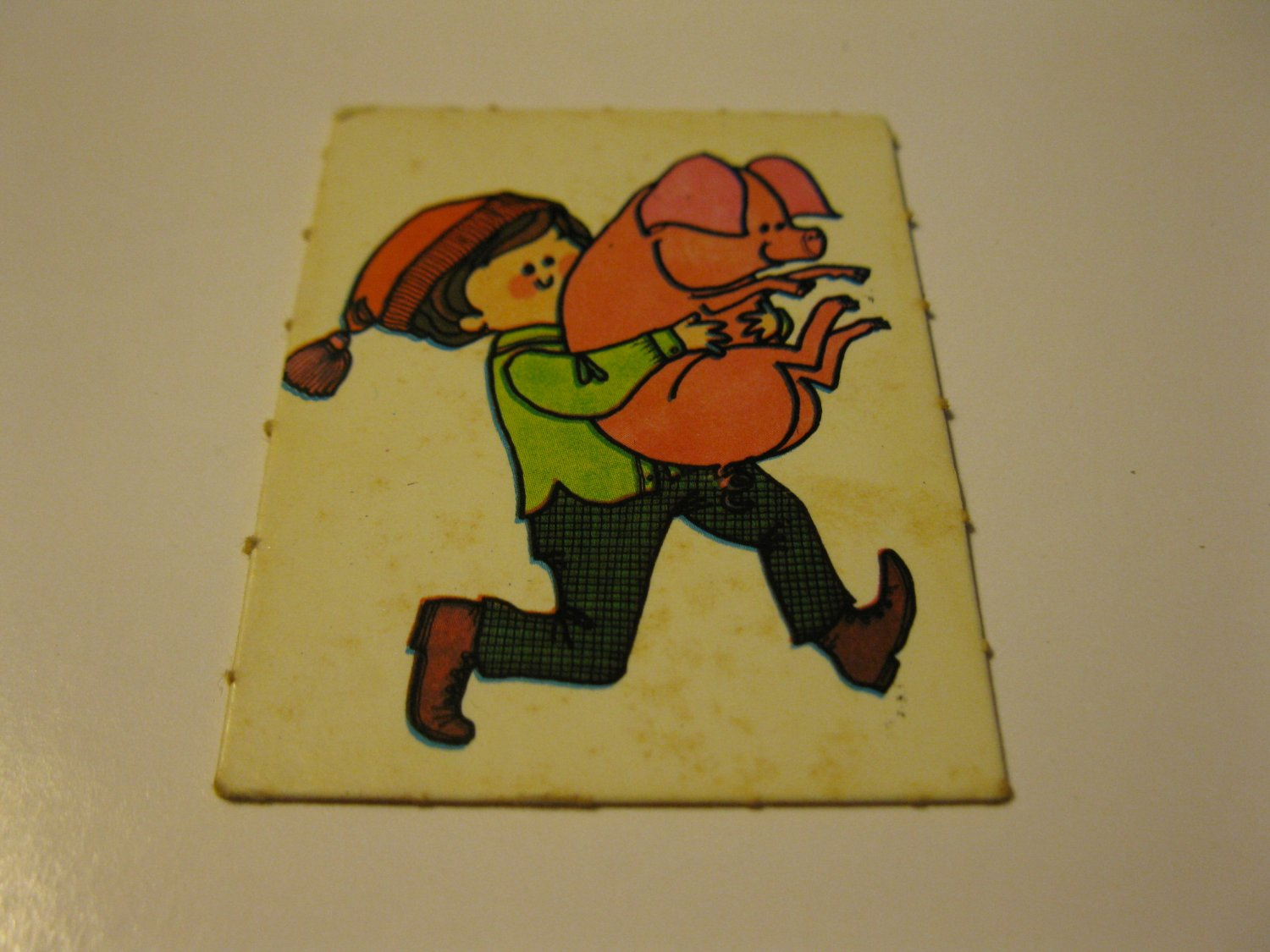 1971 Mother Goose Board Game Piece: Game card #2