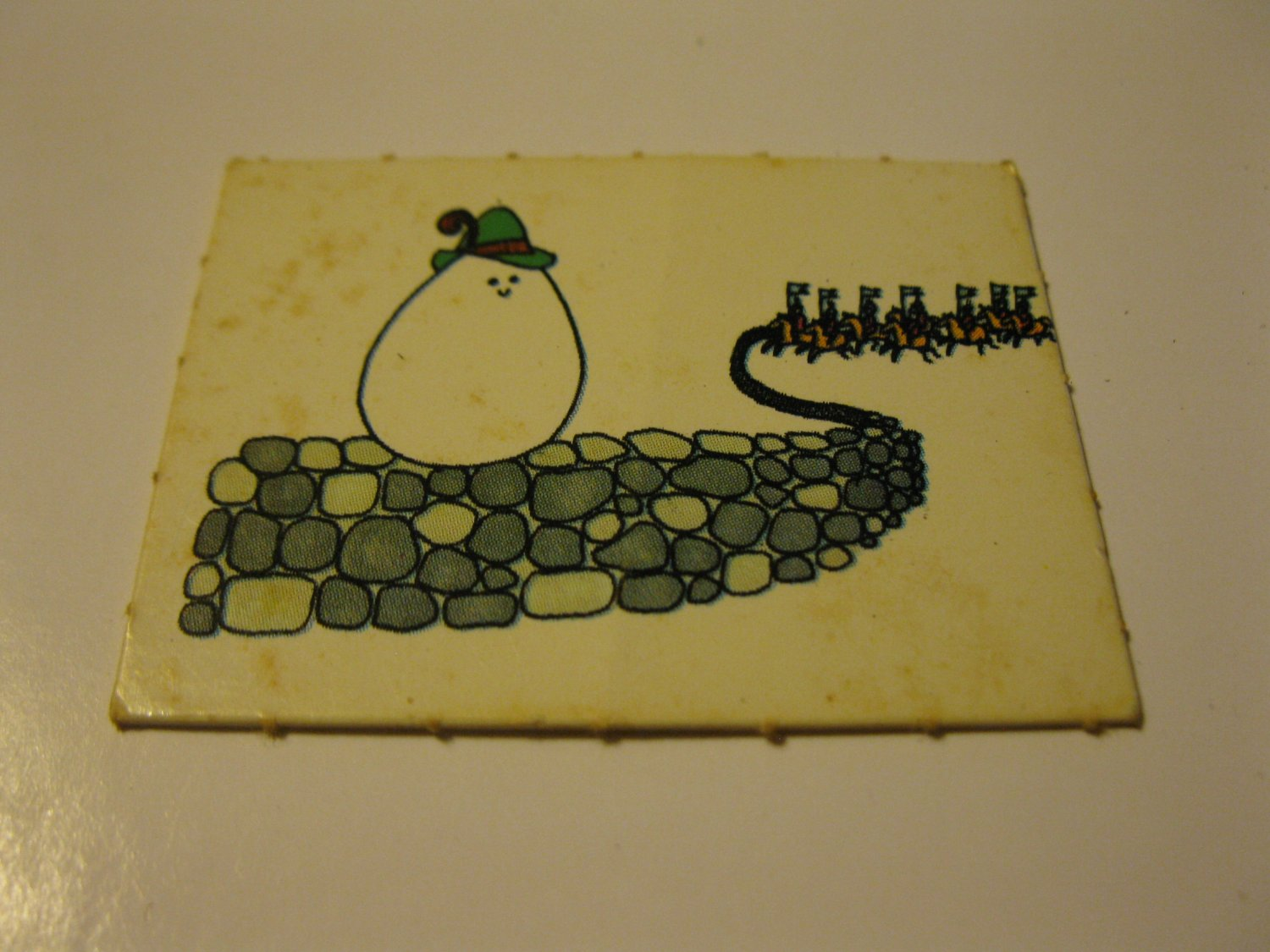 1971 Mother Goose Board Game Piece: Game card #6