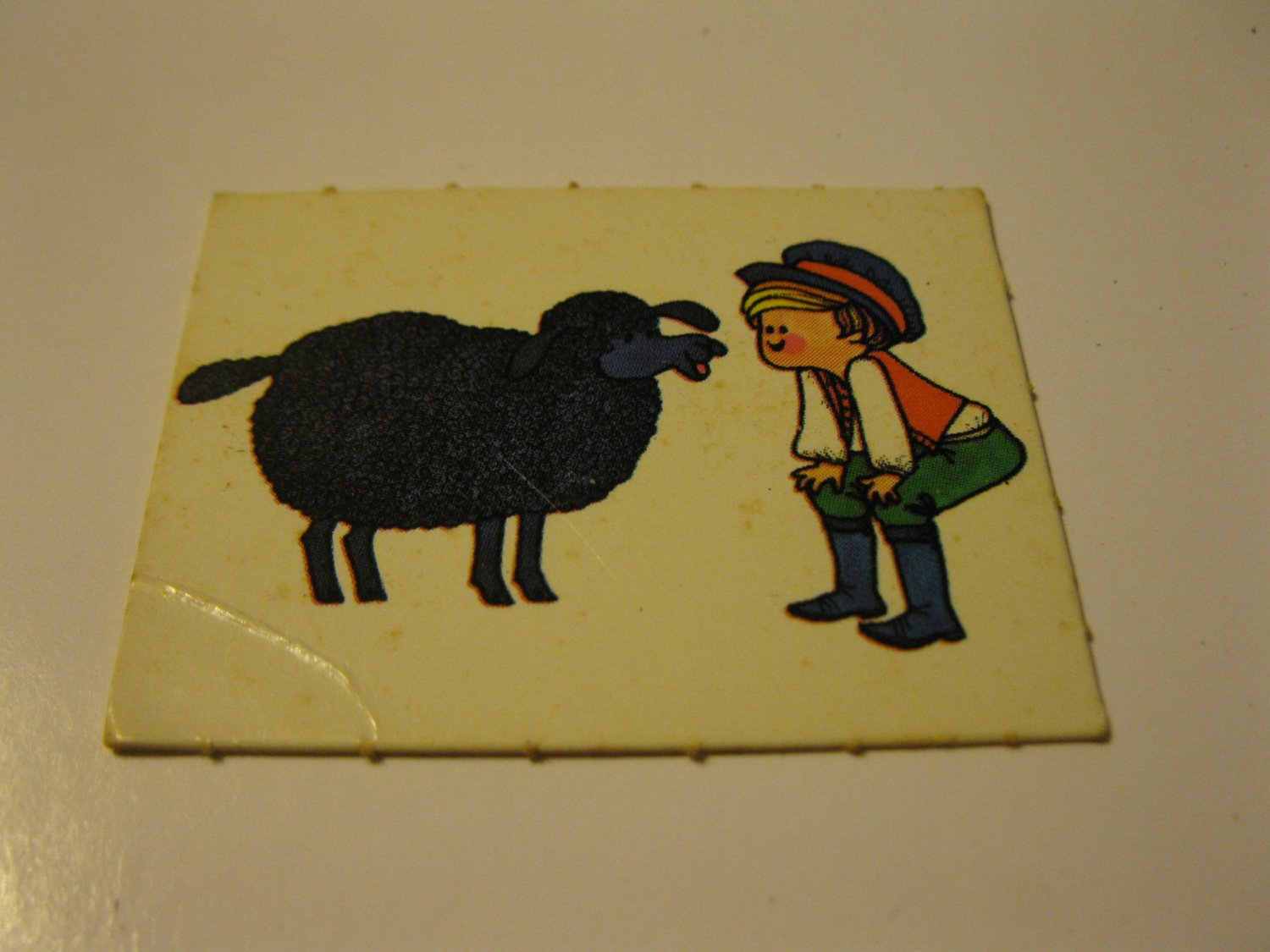1971 Mother Goose Board Game Piece: Game card #7