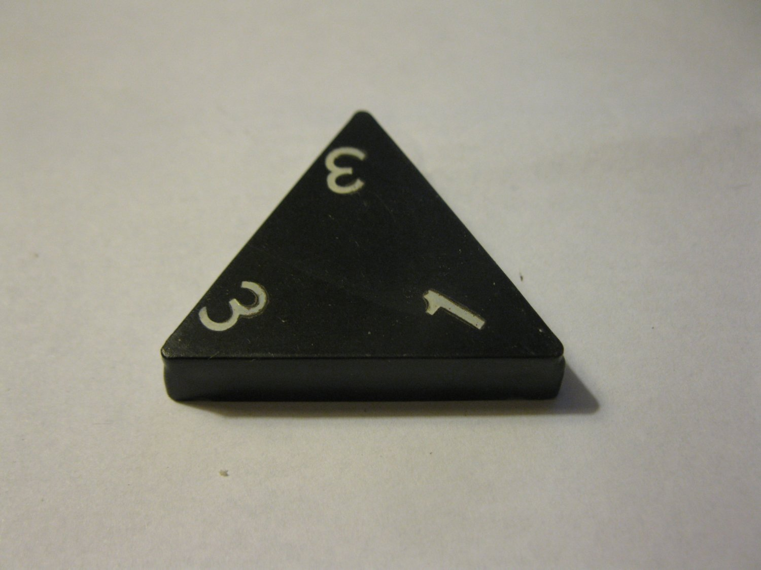 1985 Tri-ominoes Board Game Piece: Triangle # 1-3-3
