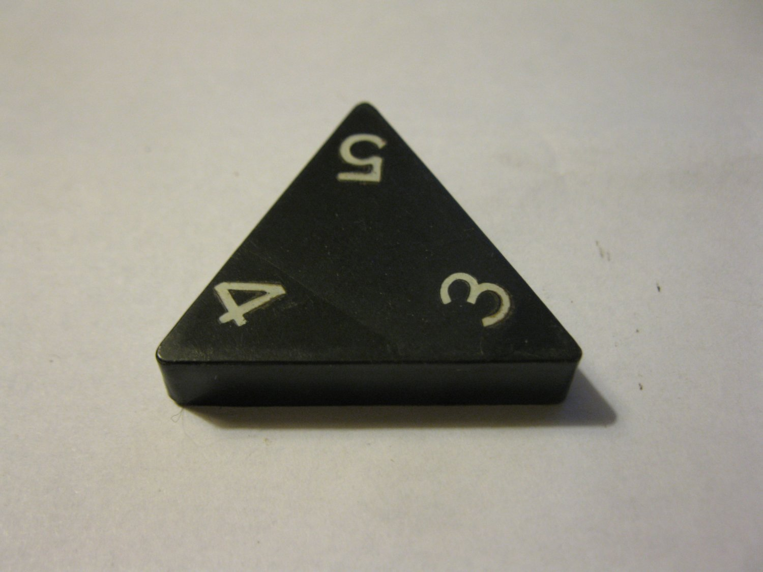 1985 Tri-ominoes Board Game Piece: Triangle # 3-4-5