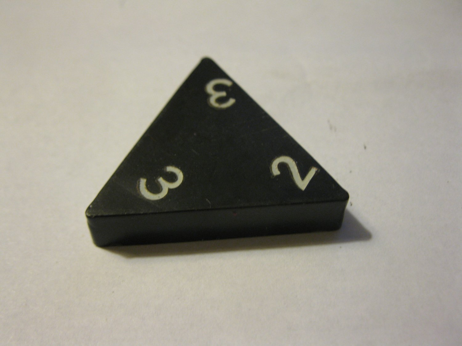 1985 Tri-ominoes Board Game Piece: Triangle # 2-3-3