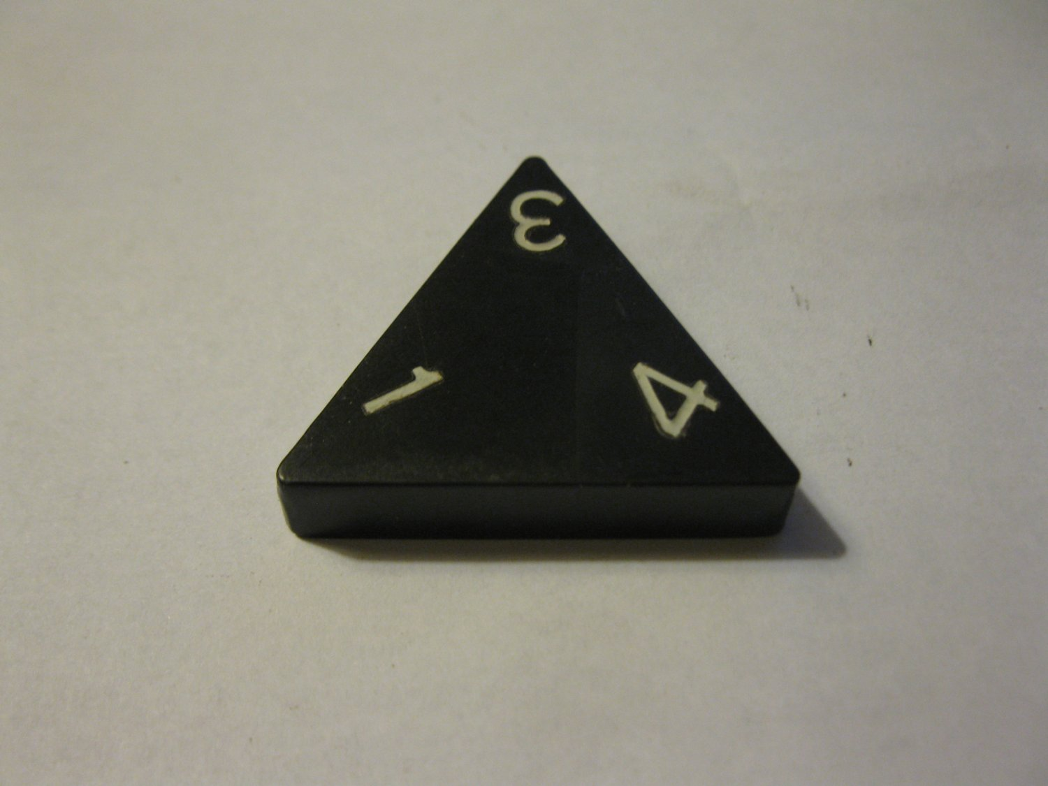 1985 Tri-ominoes Board Game Piece: Triangle # 1-3-4
