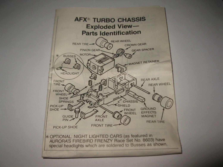 Vintage 1989 Aurora Devil's Ditch Slot Car Playset piece: Instruction Sheet