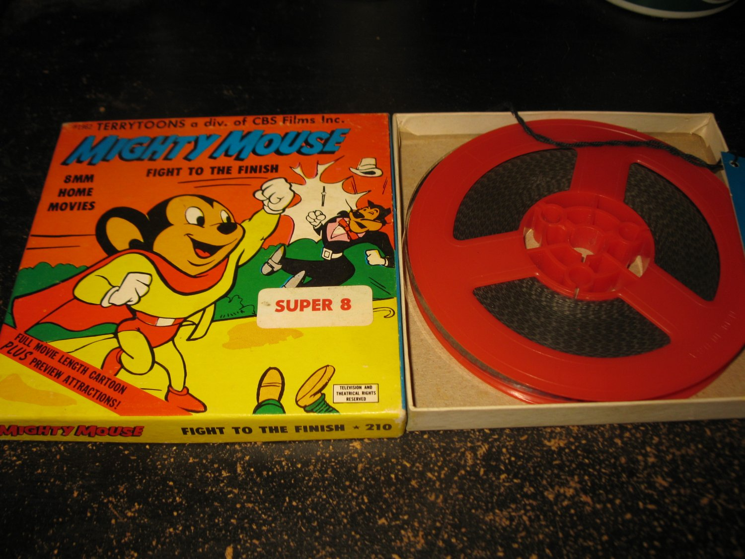vintage 1962 Terrytoons Super 8 8mm Movie: Ken Films #210 - Mighty Mouse 'Fight to the Finish'