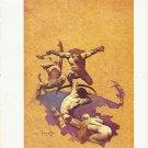 "vintage Frank Frazetta 11"" x 9"" Book Plate Print - Land of Terror"