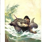 "vintage Frank Frazetta 11"" x 9"" Book Plate Print - Monster out of Time"