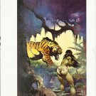 "vintage Frank Frazetta 11"" x 9"" Book Plate Print - Escape on Venus"