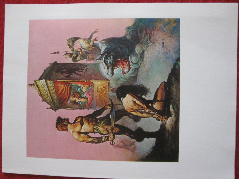 "vintage Boris Vallejo: Tarnsman of Gor - 11.5"" x 8.5"" Book Plate Print"