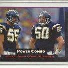 (b-32) 1993 Power Combos Football Card #3 Junior Seau/Gary Plummer