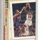 (b-32) 1996-97 Collector's Choice #364 John Starks / Michael Jordan