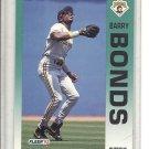 (b-32) 1992 Fleer #550 - Barry Bonds