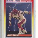 (b-32) 1990 Score Football Card #323 James Brooks , Ground Force