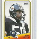 b-32) 1988 Topps Football Card #172 David Little , Rookie Card
