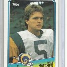 (b-32) 1988 Topps Football Card #293 Dale Hatcher