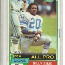 (b-32) 1981 TOPPS #100 BILLY SIMS LIONS ROOKIE