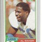 (b-32) 1981 TOPPS #175 AL BAKER football card