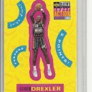 (b-32) 1996-97 Collector's Choice Stick-Ums 2 #S10 Clyde Drexler