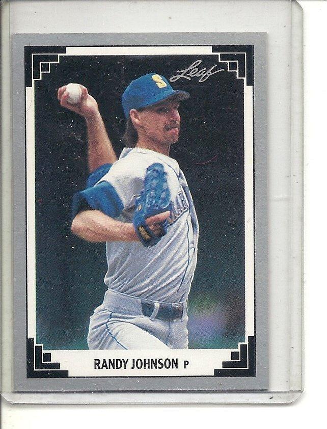 (b-32) 1991 Leaf #319 Randy Johnson Baseball Card