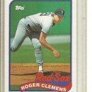 (b-32) 1989 Topps #450 Roger Clemens