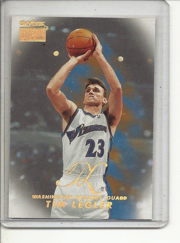 (b-32) 1998-99 SkyBox Premium Washington Wizards #150 Tim Legler