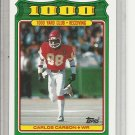 (b-32) 1988 Topps 1000 Yard Club Kansas City Chiefs #6 Carlos Carson