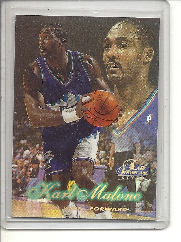 (b-32) 1997-98 Flair Showcase Row 2 Utah Jazz #56 Karl Malone