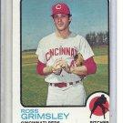 (b-31) 1973 Topps #357: Ross Grimsley - Factory Error - Off-Set Cut
