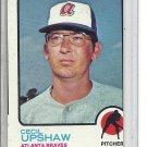 (b-31) 1973 Topps #359: Cecil Upshaw - Factory Error - Off-Set Cut