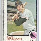 (b-31) 1973 Topps #23: Dave Kingman- Factory Error - Off-Set Cut