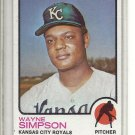 (b-31) 1973 Topps #428: Wayne Simpson - Factory Error - Off-Set Cut