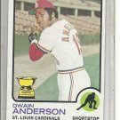(b-31) 1973 Topps #241: Dwain Anderson - All-Star - Factory Error - Off-Set Cut