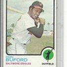 (b-31) 1973 Topps #183: Don Buford - Factory Error - Off-Set Cut