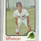 (b-31) 1973 Topps #165: Luis Aparico - Factory Error - Off-Set Angled Cut