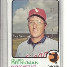 (b-31) 1973 Topps #404: Chuck Brinkman - Factory Error - Off-Set Cut