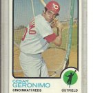 (b-31) 1973 Topps #156: Cesar Geronimo - Factory Error - Off-Set Cut