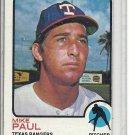 (b-31) 1973 Topps #58: Mike Paul - Factory Error - Off-Set Cut