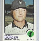 (b-31) 1973 Topps #240: Bobby Murcer - Factory Error - Off-Set Cut