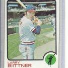 (b-31) 1973 Topps #249: Larry Biittner - Factory Error - Off-Set Angled Cut