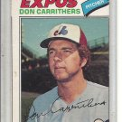 (b-31) 1977 O-Pee-Chee #18: Don Carrithers - Factory Error - Off-Set Cut