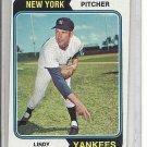 (b-31) 1974 Topps #182: Lindy McDaniel - Factory Error - Off-Set Angled Cut