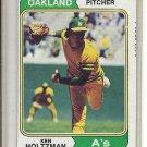 (b-31) 1974 Topps #180: Ken Holtzman - Factory Error - Off-Set Cut