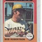 (b-31) 1975 Topps #409: Bob Robertson- Factory Error - Severe off-Set Cut