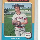 (b-31) 1975 Topps #89: Jim Ray- Factory Error - Severe off-Set Cut