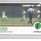 (b-31) 1973 Topps #420: Tommie Agee - Factory Error - Off-Set Cut