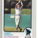 (b-31) 1973 Topps #418: Bobby Grich - Factory Error - Off-Set Cut