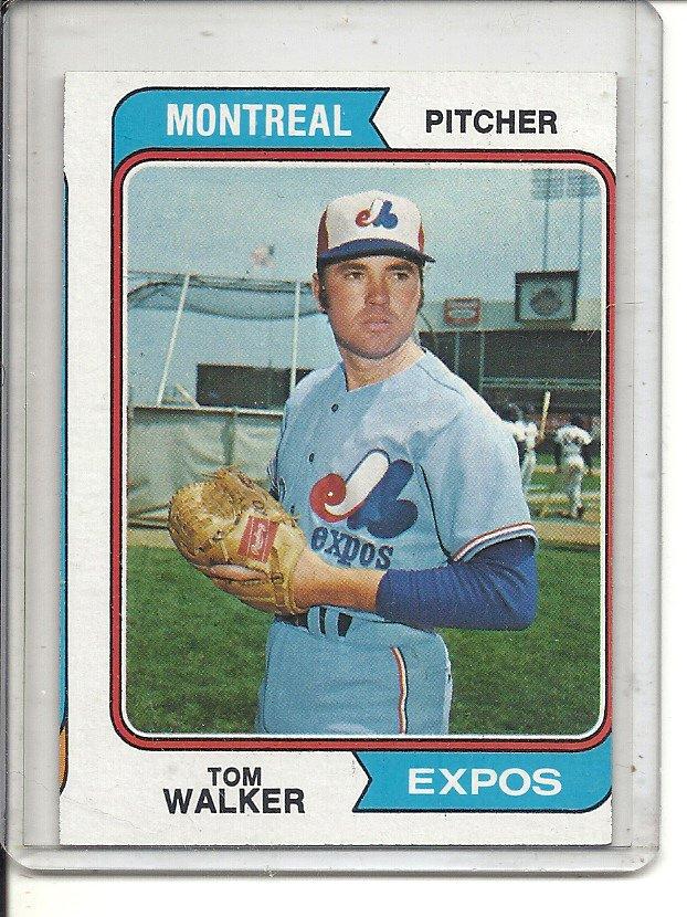 (b-31) 1974 Topps #193: Tom Walker- Factory Error - Severe Off-Set Cut