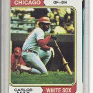 (b-31) 1974 Topps #195: Carlos May- Factory Error - Severe Off-Set Cut